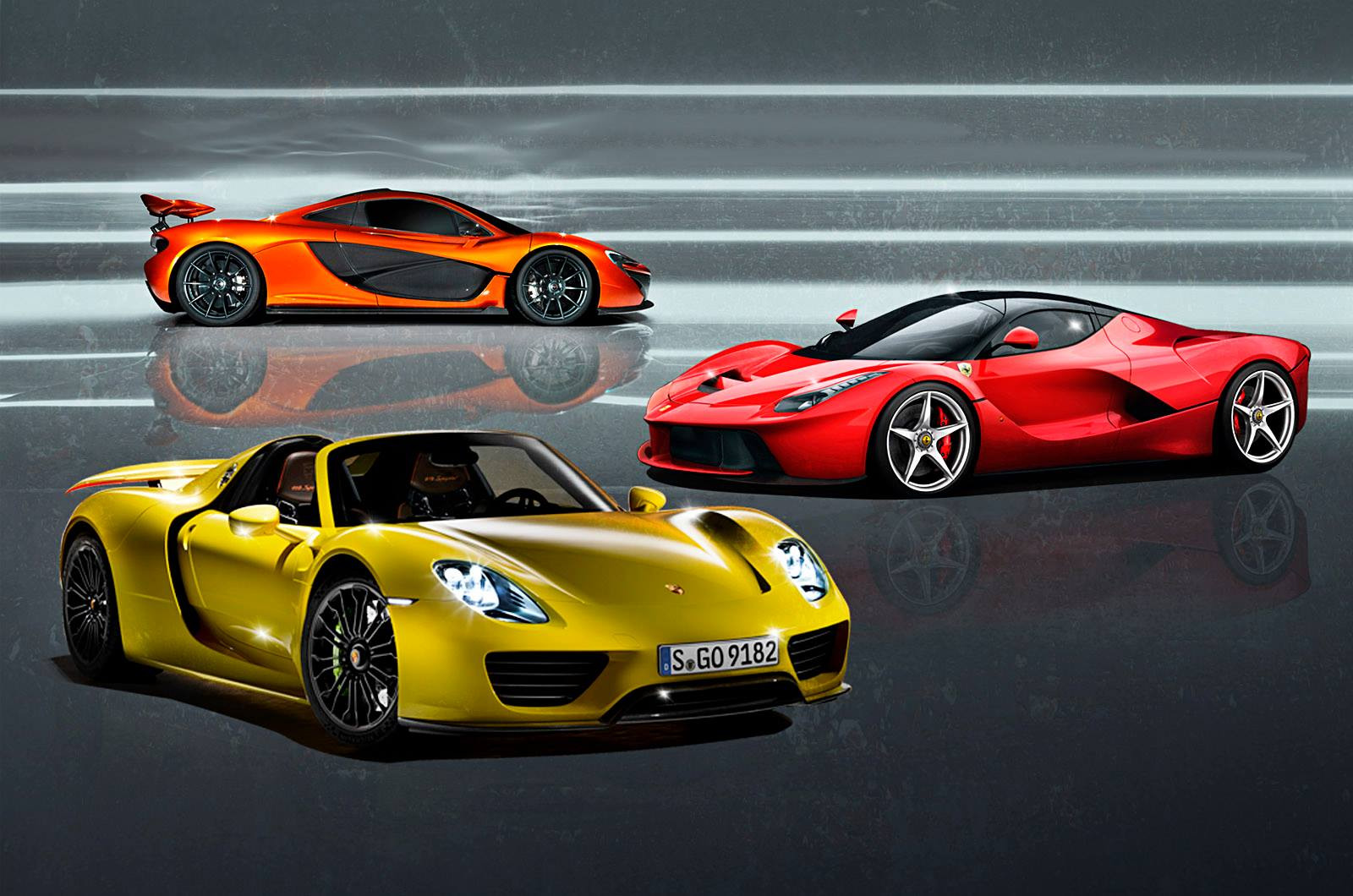 Power Play Ferrari Laferrari Mclaren Or Porsche
