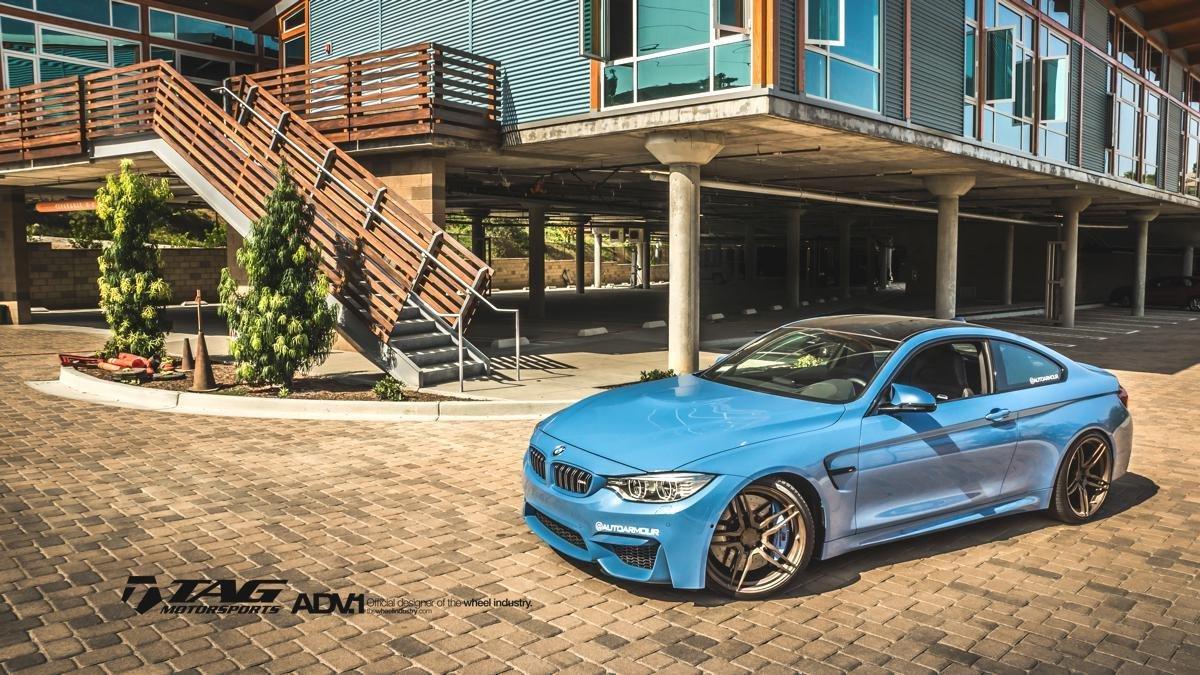 elegant tag motorsports metallic blue m4 on adv wheels