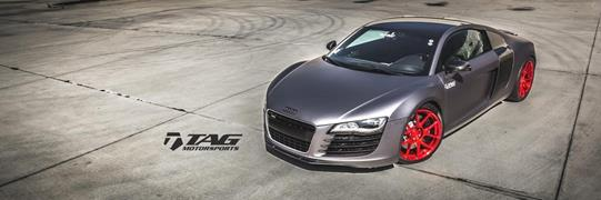 TAG Motorsports Matte Grey R8 on Brushed Red MORR VS52 picture 1