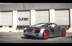 TAG Motorsports Matte Grey R8 on Brushed Red MORR VS52 picture 2
