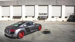 TAG Motorsports Matte Grey R8 on Brushed Red MORR VS52 picture 4