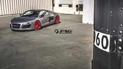 TAG Motorsports Matte Grey R8 on Brushed Red MORR VS52 picture 5