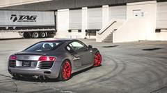TAG Motorsports Matte Grey R8 on Brushed Red MORR VS52 picture 6