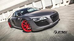 TAG Motorsports Matte Grey R8 on Brushed Red MORR VS52 picture 9