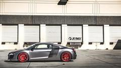 TAG Motorsports Matte Grey R8 on Brushed Red MORR VS52 picture 10
