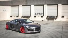 TAG Motorsports Matte Grey R8 on Brushed Red MORR VS52 picture 12