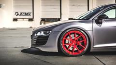 TAG Motorsports Matte Grey R8 on Brushed Red MORR VS52 picture 13