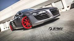 TAG Motorsports Matte Grey R8 on Brushed Red MORR VS52 picture 14
