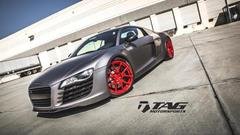 TAG Motorsports Matte Grey R8 on Brushed Red MORR VS52 picture 15
