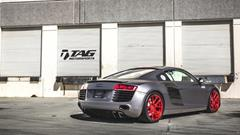 TAG Motorsports Matte Grey R8 on Brushed Red MORR VS52 picture 18