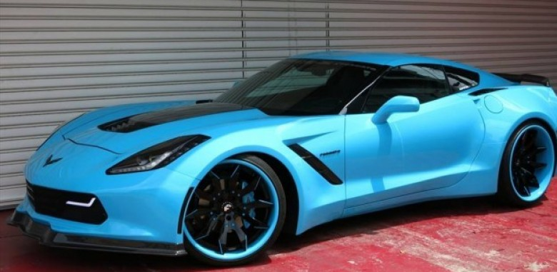 Office K S Bodacious Blue Corvette C7 Stingray Widebody Is Quite Phenomenal