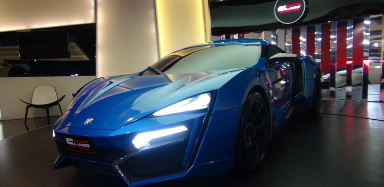Brazen Blue Lykan Hypersport Makes an Appearance at Al Ain Class Motors in Dubai