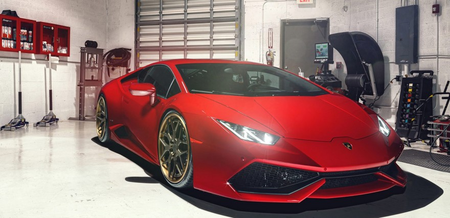 Rosso Red Huracan on New ADV.1 Wheels