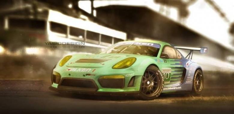 Porsche Cayman Gt4 Turns Racecar
