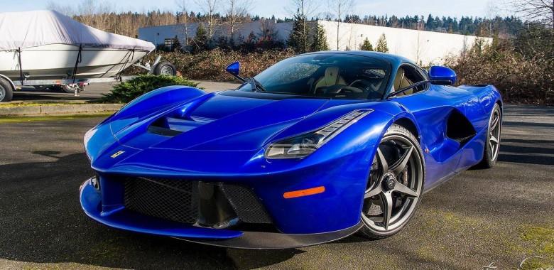 Electric Blue Ferrari Laferrari Photographed In Washington