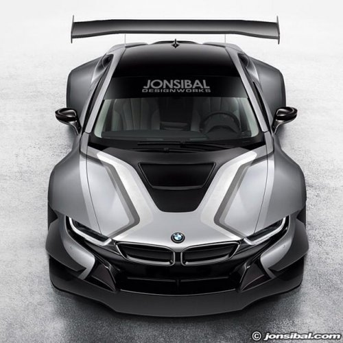 Bmw I8 Race Car Rendered