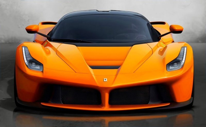 One Off Ferrari Laferrari In Orange