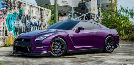 Chrome Midnight Purple and Carbon Nissan GT-R