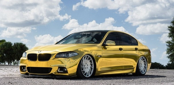 Midas' Golden BMW 5-Series on Limited Edition Vossen VLE-1