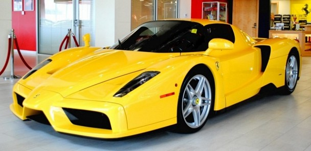 CarVerse Epic Find of the Day: Yellow Ferrari Enzo