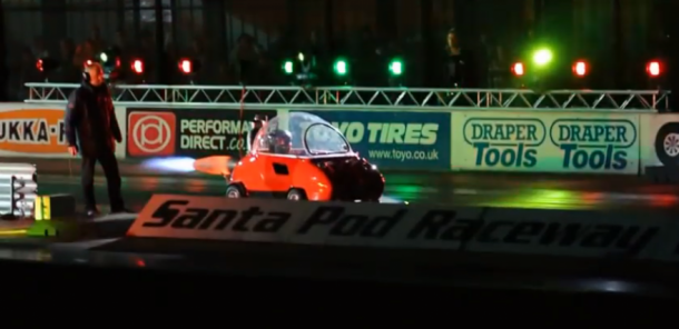 Slowest Jet Engine Car Sets Record Quarter-Mile