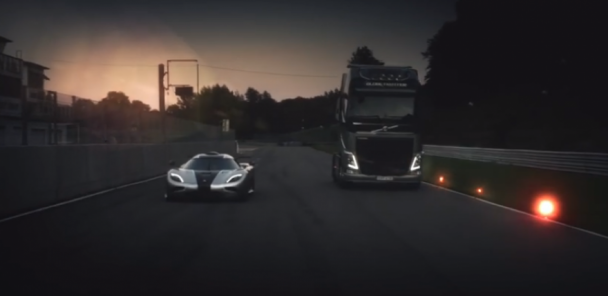 Volvo Semi-Truck VS Koenigsegg One:1
