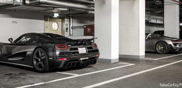 Dynamic Duo: Koenigsegg Agera R and Porsche 918 Spyder Spotted in Germany
