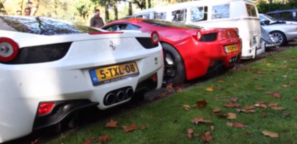 Pair of Ferrari 458s Storm Netherlands
