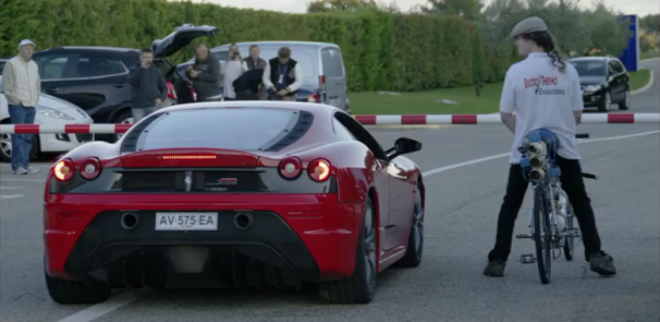 Rocket Bicycle VS Ferrari F430 Scuderia