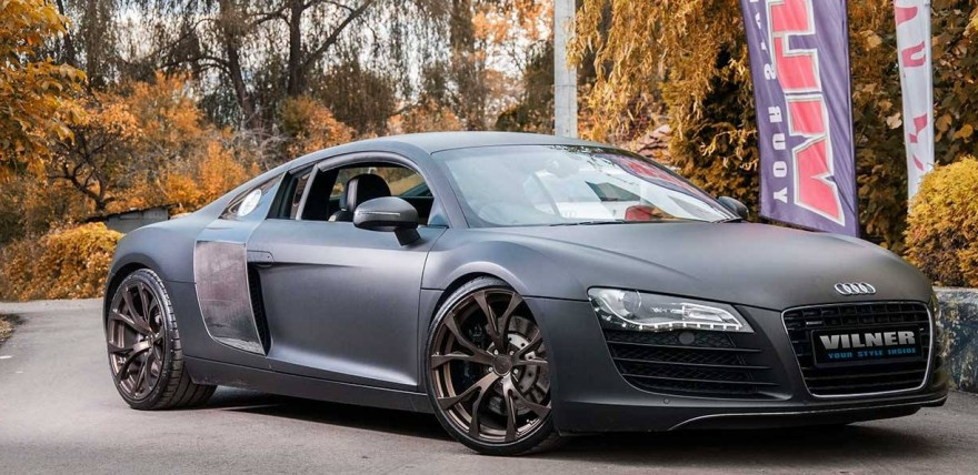 This Audi R8 by Vilner is Ready for Some Monochromatic Mayhem