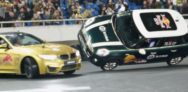 World Record For Drifting Around Car on Two Wheels Set in BMW M4