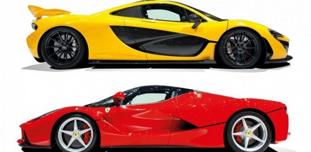 LaFerrari vs McLaren P1: hybrid supercar twin test review (2014)