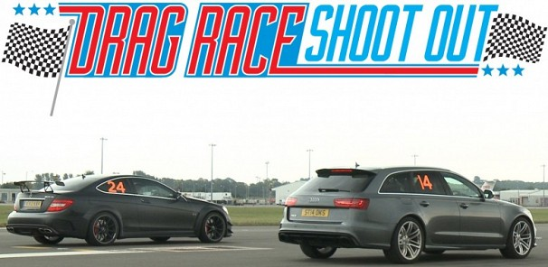 Audi RS6 vs Mercedes C63 AMG Black Series - Drag Race Shoot-out
