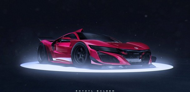 NSX Rendered for GTE Le Mans