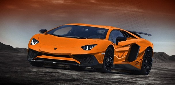 Lamborghini Aventador SV Rendered In Every Color
