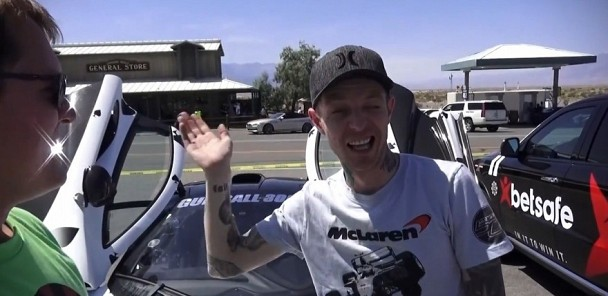 Deadmau5 in the McLaren P1 on Gumball 3000