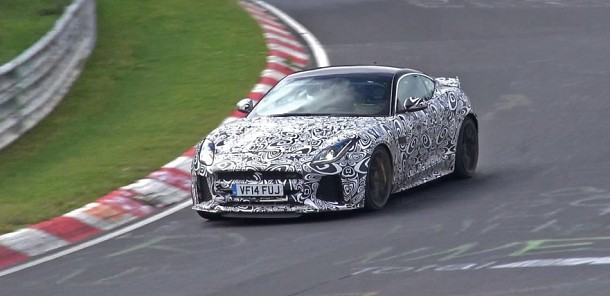 2016 Jaguar F-Type SVR Coupe Testing HARD on the Nürburgring! - Spy Video