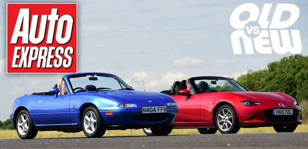 Mazda MX-5 Mk1 v Mazda MX-5 Mk4 - Old vs new drag race challenge