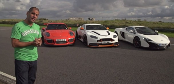 Chris Harris on Cars - Aston GT12 v 991 GT3RS v McLaren 650S