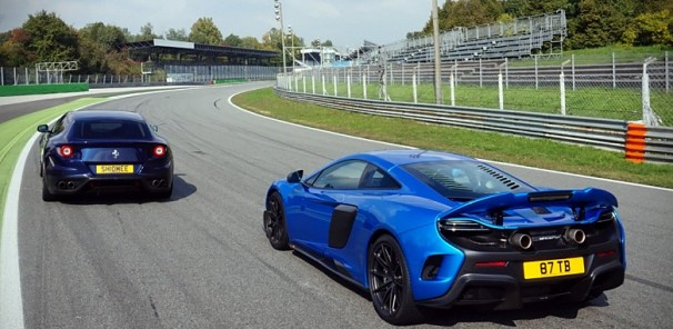 McLaren 675LT and FF Photoshoots on Monza GP Circuit and Parabolica