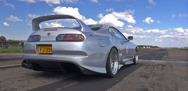 900HP+ Toyota Supra in action on the Dragstrip!