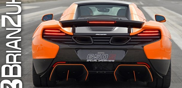 McLaren 650S with Akrapovic Exhaust Accelerations