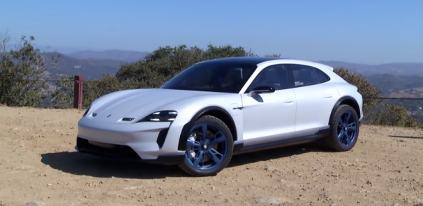 Porsche Mission E Cross Turismo Concept Electric Vehicle gets a Test Demo in Malibu